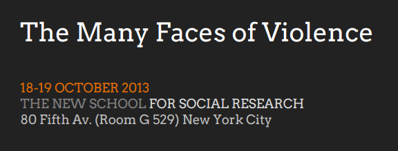 Workshop: The Many Faces of Violence