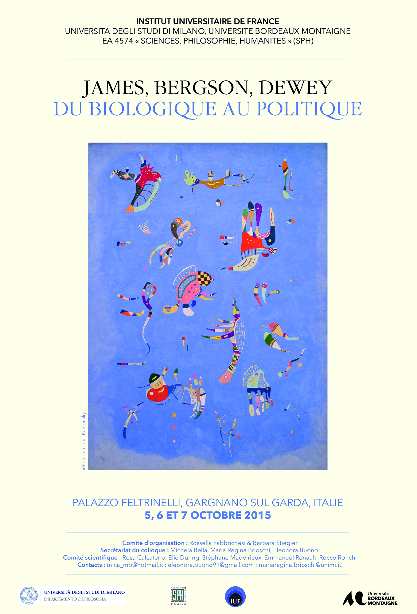 James, Bergson, Dewey - Du biologique au politique (French, Italian)